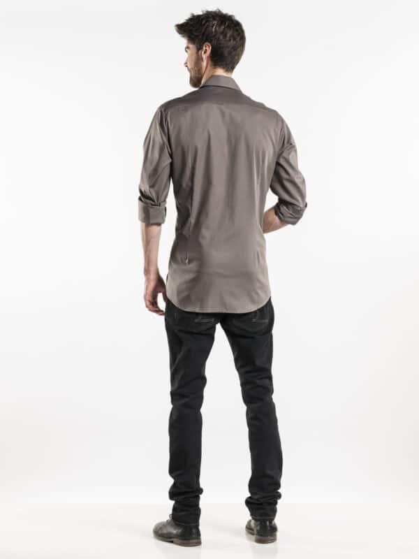 Afbeelding_Chaud Devant Overhemd Stone Stretch_achteraanzicht